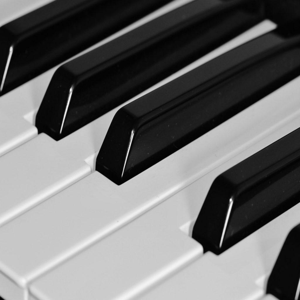 Keyboard and Piano keys.