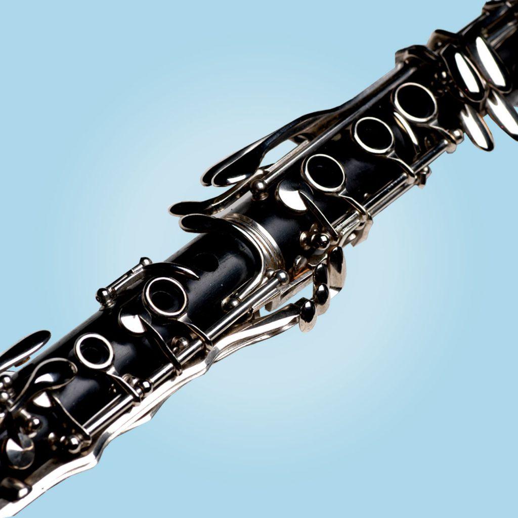 Clarinet wind musical instrument.