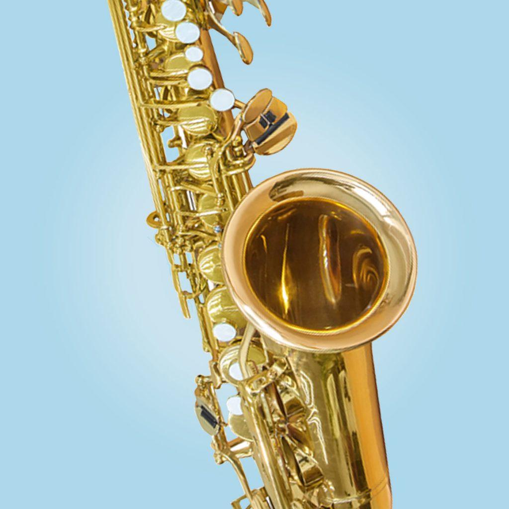 Saxophone wind musical instrument.