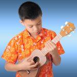 Boy Playing Ukulele Children's Music Classes Buderim